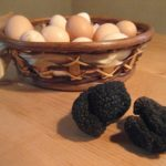 umbrian breakfast: truffle and eggs