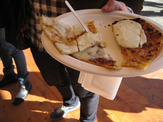 farinata: street food from liguria at the salone del gusto