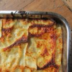 lasagna with artichokes for easter