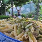 pasta with zucchini and smoked provola