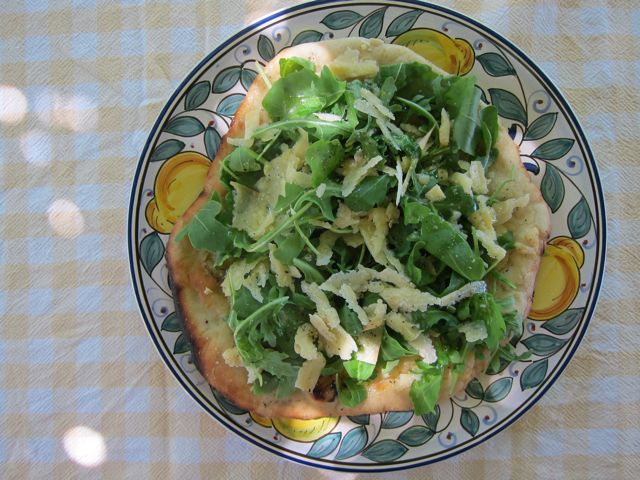summer pizza with arugula
