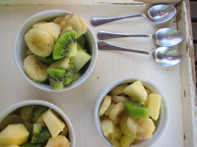 curiously strong ginger fruit salad