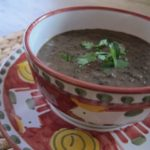 trumpets of death {mushroom + bean soup}