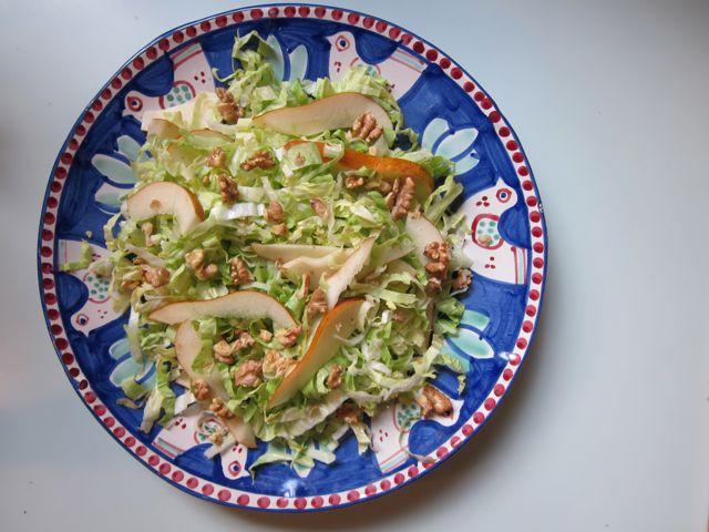 radicchio, pear + walnut {salad}