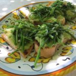 asparagus + ricotta {bruschetta}