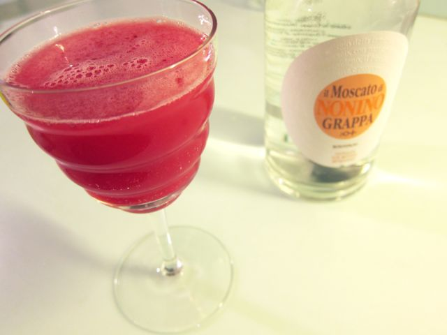 red currant + grappa {cocktail}