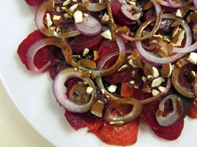 beet salad + balsamic honey dressing