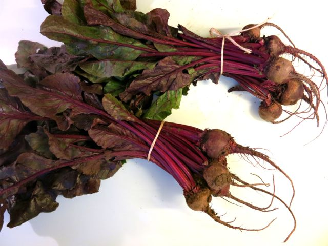 Orecchiete with Beets and Greens
