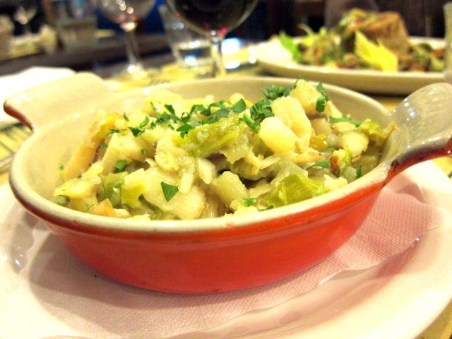 Bacala con porri e patate - Al Tranvai, Florence