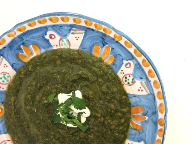 indian swiss chard + lentil {soup}