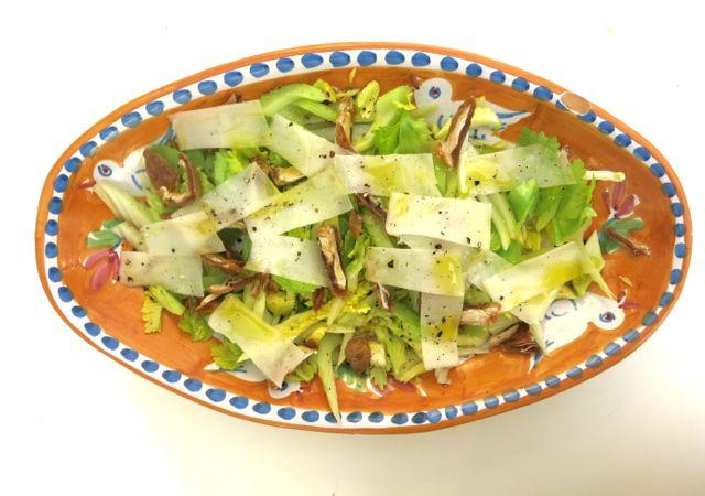 celery, date and pecorino salad