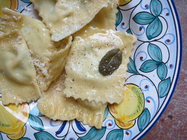 Lemon And Goat Cheese Ravioli Recipe — Dishmaps