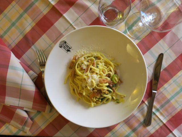 Pasta alla Romana Taverna dei Fori Imperiali, Rome www.ElizabethMinchilliInRome.com