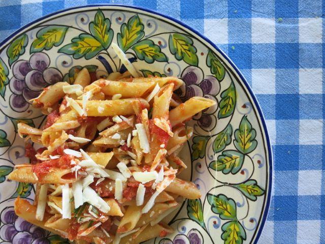 tomato + rosemary {pasta}