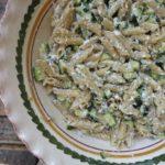 zucchini, mint + ricotta {pasta}