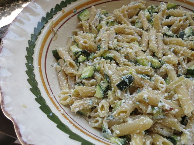 Pasta with Zucchini, Ricotta and Mint www.elizabethminchilliinrome.com