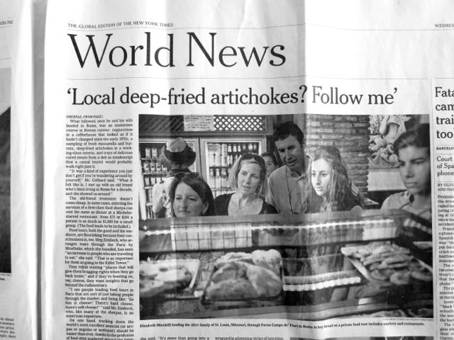 front page news {that would be me}