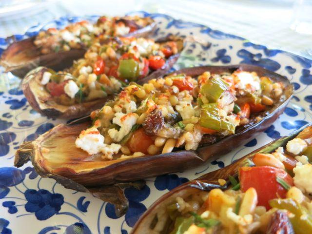 Stuffed Roasted Eggplant www.ElizabethMinchilliInRome.com