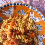 pumpkin + pancetta {pasta}