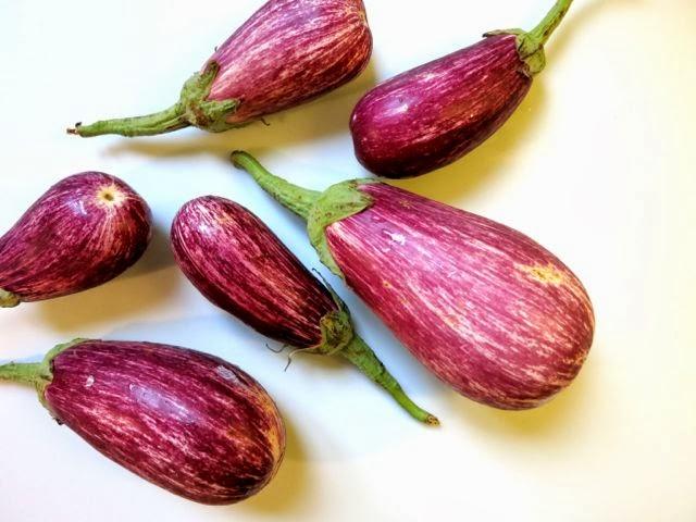 eggplant, mint + goat cheese {pasta}