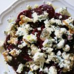 beet salad + blue cheese