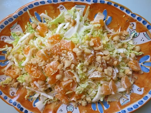 cabbage + clementines + nuts {salad}