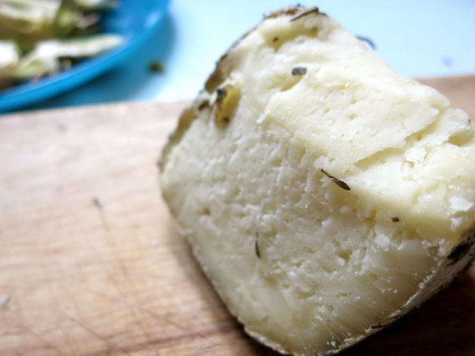 pecorino cheese for raw artichoke salad