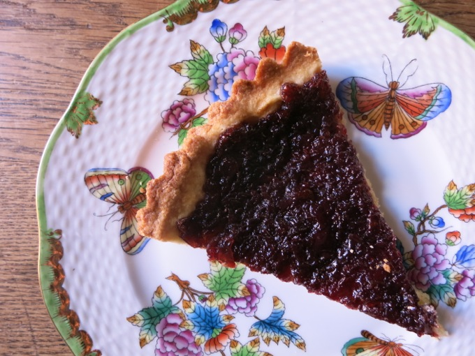 Cherry jam crostata