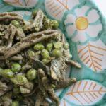 artichokes + peas + mint pesto {pasta}
