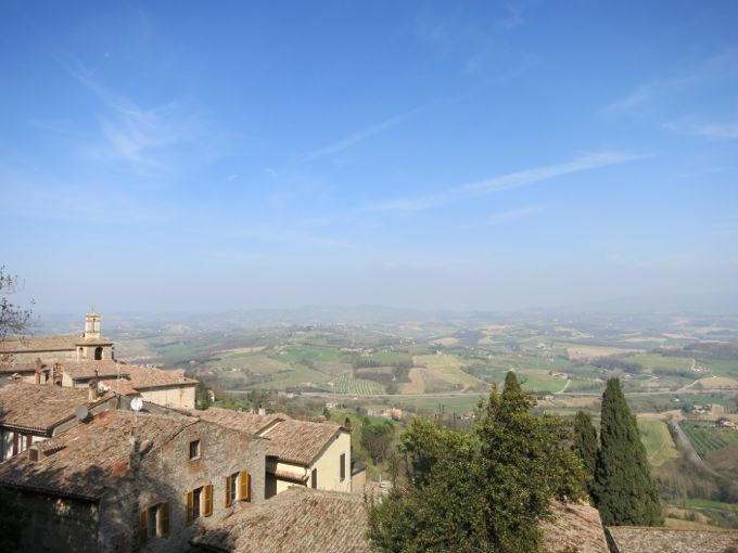 View from Ristorante Umbria, Todi