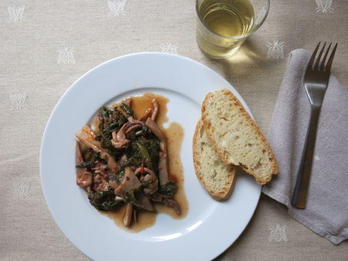 Calamari in inzimino - Squid and greens