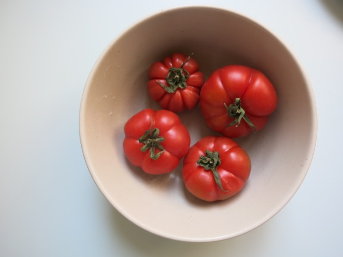 Pachino tomatoes for bruschetta