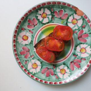 orange olive oil + tomato {bruschetta}