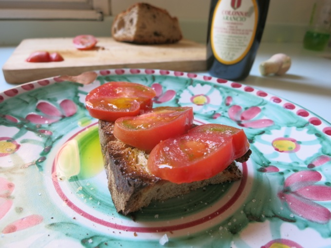 Tomato and Orange Olive Oil Bruschetta
