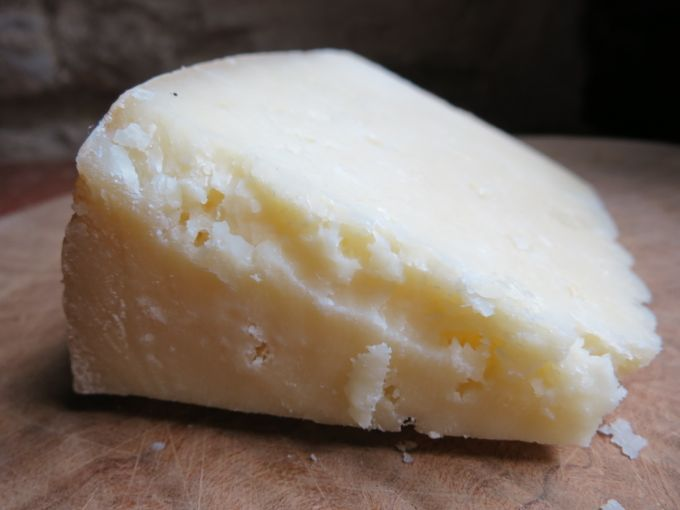 Pecorino for Pasta alla Gricia with Swiss Chard
