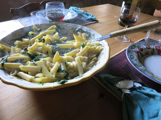 Pasta alla Gricia with Swiss Chard