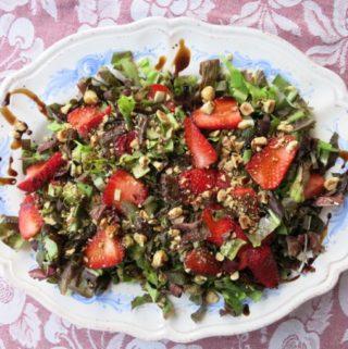 radicchio + strawberry {salad}