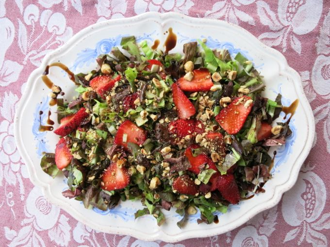 Radicchio and Strawberry Salad