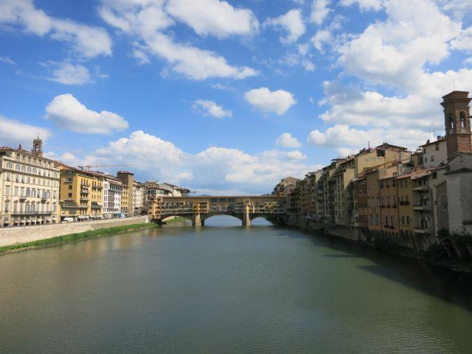 View of Ponte Vecchio from Ponte di Santa Trinita