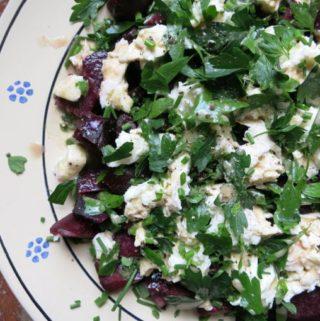 beet + mozzarella {salad}