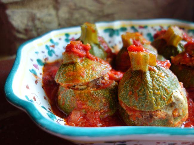 stuffed {roly poly} zucchini