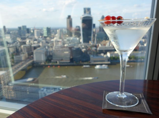 drinks at the shard {london}
