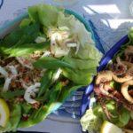 squid + walnut salad  {positano}