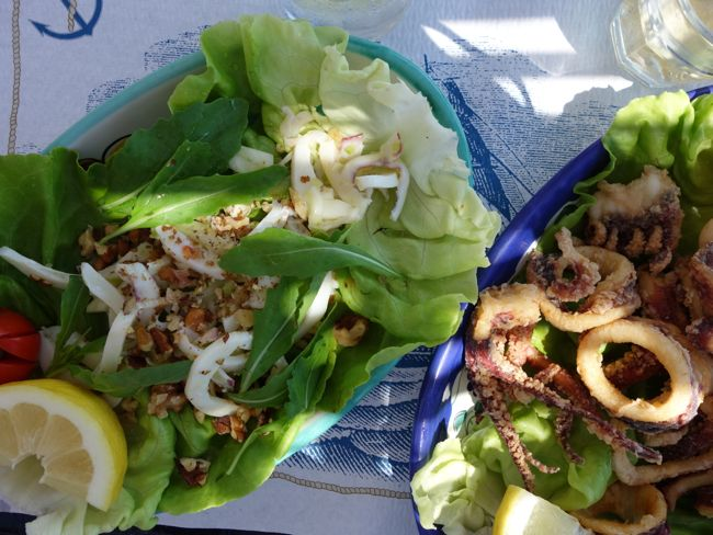 squid + walnut salad  {positano}