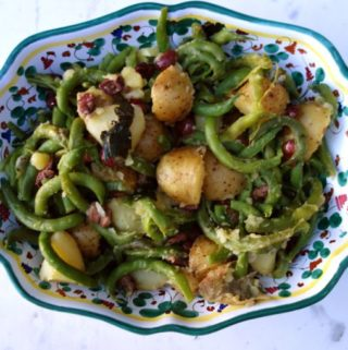 green beans, potatoes + olives