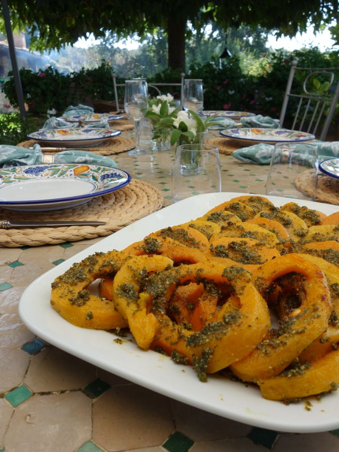 Roasted Butternut Squash with Sage  Pesto