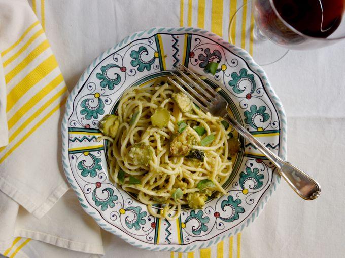 Spaghetti with Zucchini and Pecorino