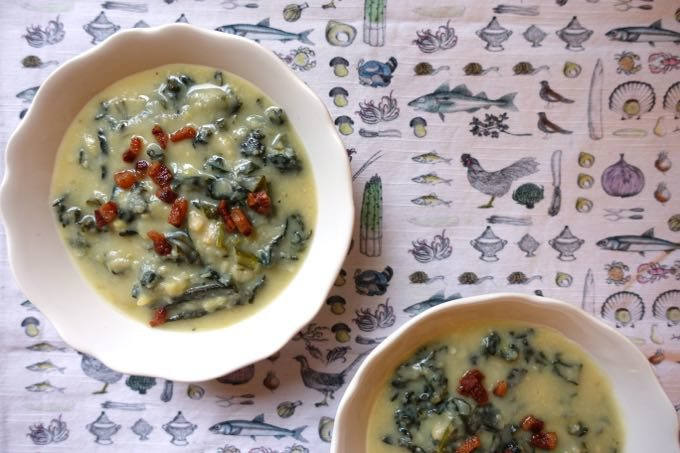 Dried Fave and Tuscan Kale Soup