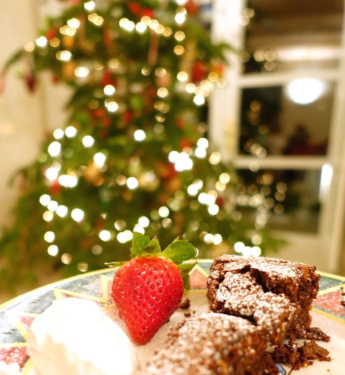 Torta Barozzi with Christmas Tree