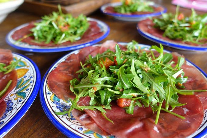 Bresaola and arugula